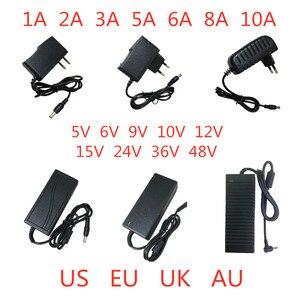 5V 6V 9V 10V 12V 15V 24V 36V 48V 1A 2A 3A 5A 6A 8A 10A Power Supply Adapter lighting transformer Converter For LED strip light(China)