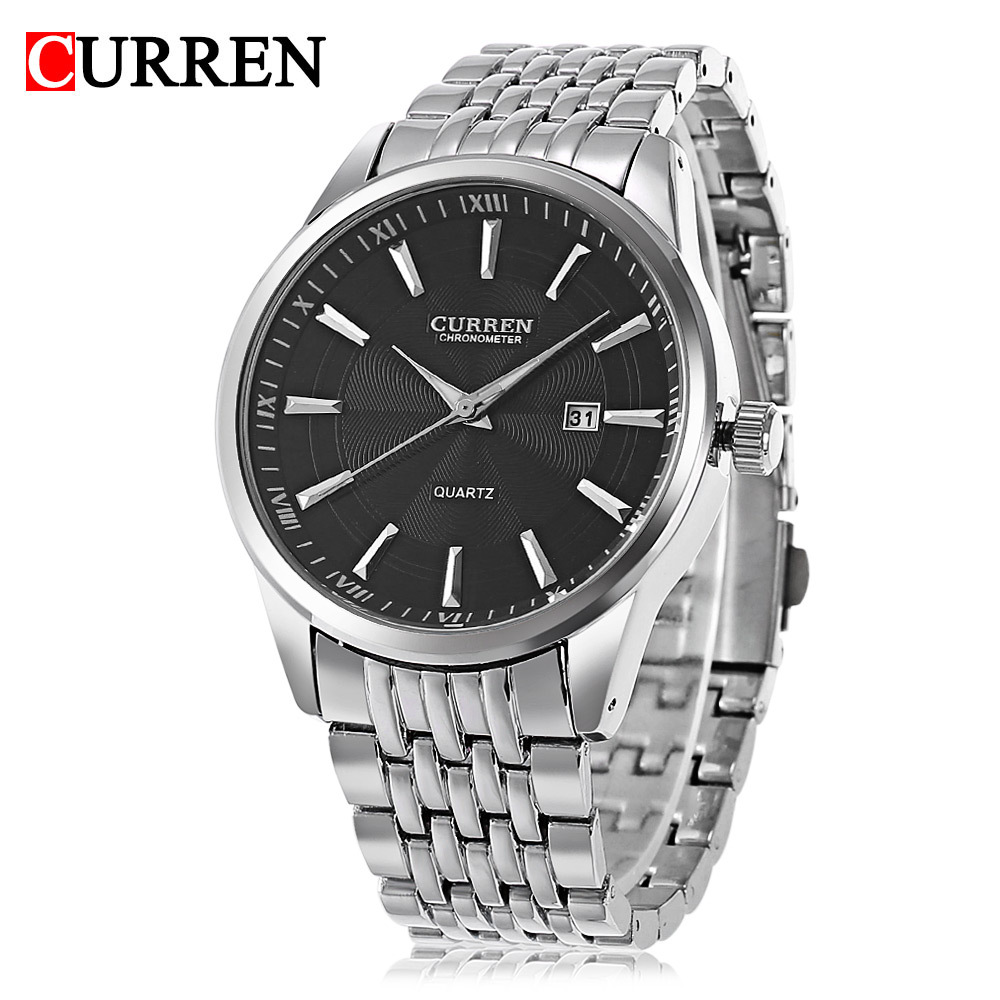 <font><b>Curren</b></font>/Karui En <font><b>8052</b></font> MEN'S Watch Quartz Watch Men Calendar Watch Steel Belt Waterproof MEN'S Watch image