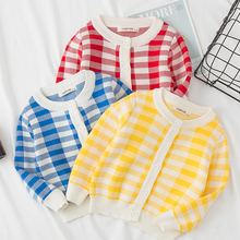 Autumn Winter Knitwear Baby Girl Clothes Christmas Sweater For Kids Spring 1-6 Yrs Boys Girls Lattice Knitted Sweater Cardigan