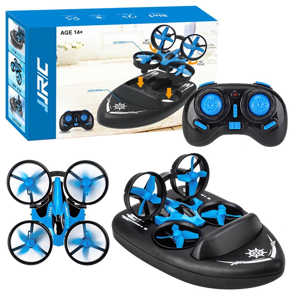 Rc Boat For JJRC H36F 3 In 1 RC Drone Quadcopter/Vehicle/Hovercraft Boat Drone 360-degrees Flip Kids Toys Rc Boat