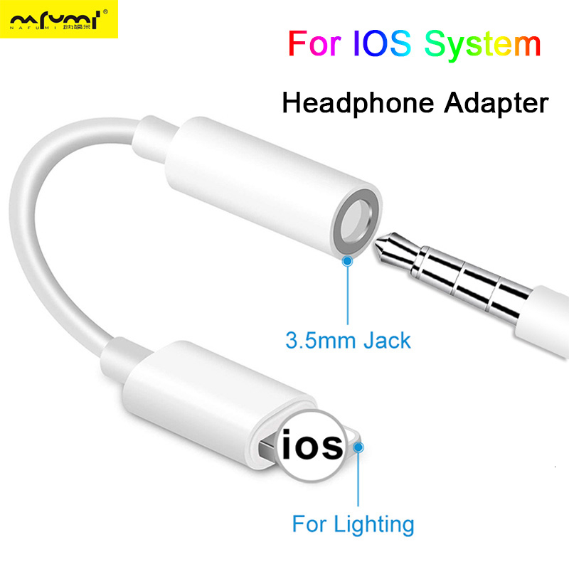Headphone Adaptador For IOS Syetem For <font><b>iPhone</b></font> 7 8 X AUX Audio <font><b>Adapter</b></font> for Lightning To 3.5mm <font><b>Adapters</b></font> Headphone <font><b>Jack</b></font> Cable image