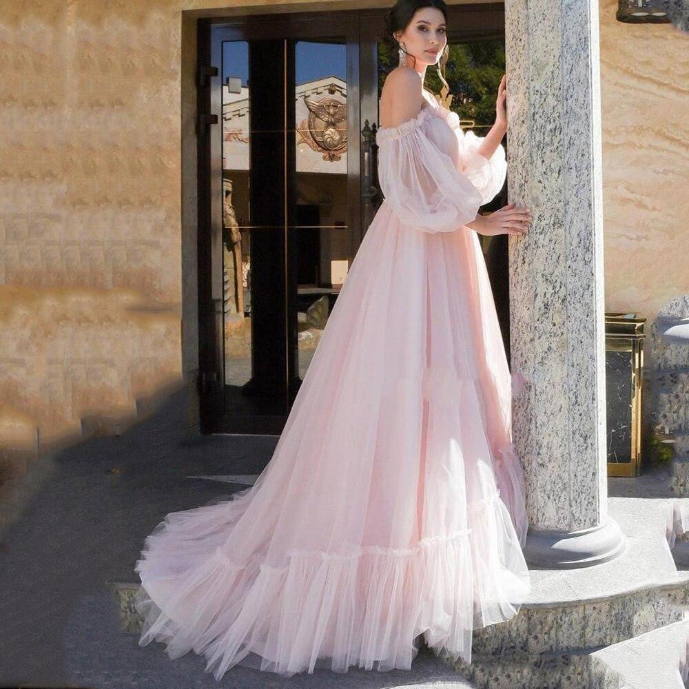 Sevintage Vintage Princess Puffy Long Sleeve Prom Dress Pageant Plus Size Evening Dresses Robe De Soirée Femmes 2020