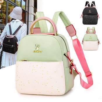 Mini Oxford Backpack Women Star Sequins Backpacks for Teenage Girl Small Packbag Female Casual Travel Shoulder Back Pack Mochila