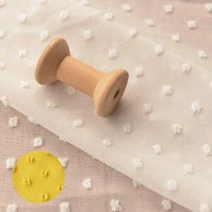 Jengibre amarillo de gasa blanca de calidad para mujer, vestido de tela jacquard tissu, Túnica Hanfu, pañuelo para ventana