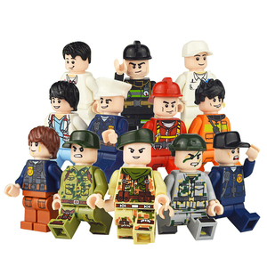 Image 2 - 120pcs Mini Action Figures Ninja Soldier Building Blocks For Kids Gifts Ninjago Police Models Bricks Toys For Children Boys Gift