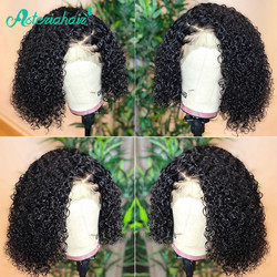 Asteria Hair-Peluca de cabello humano rizado para mujeres negras, peluca con malla frontal Remy de encaje brasileño, 13x4 Bob corto
