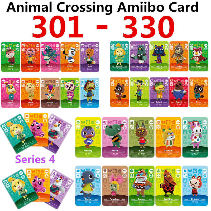 Animal Crossing Card Amiibo Card Work For NS Games Switch Rosie Welcome Stickers Amibo Ankha NFC Series 4(301TO 330)