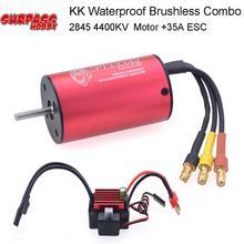 KK Waterproof 2845 4400KV Sensorless Brushless Motor &35A ESC for 1/14 1/16  RC HSP HPI SCX10 D90 On-road Off-road Buggy Truck