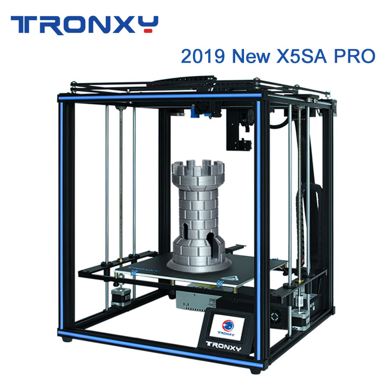 Tronxy 2019 Newest X5SA Pro OSG Double Axis External Guide Rail 3D Printer Desktop DIY Kits Titan Extruder Printing TPU Filament