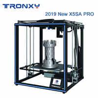 Tronxy 2019 más nuevo X5SA Pro OSG doble eje guía externa riel 3D impresora de escritorio DIY Kits Titan extrusor impresión TPU filamento