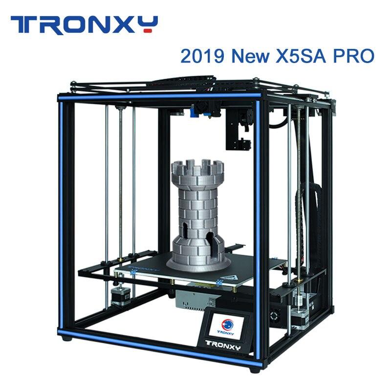 Tronxy 2019 plus récent X5SA Pro OSG Double axe Rail de guidage externe imprimante 3D bureau bricolage Kits Titan extrudeuse impression TPU Filament