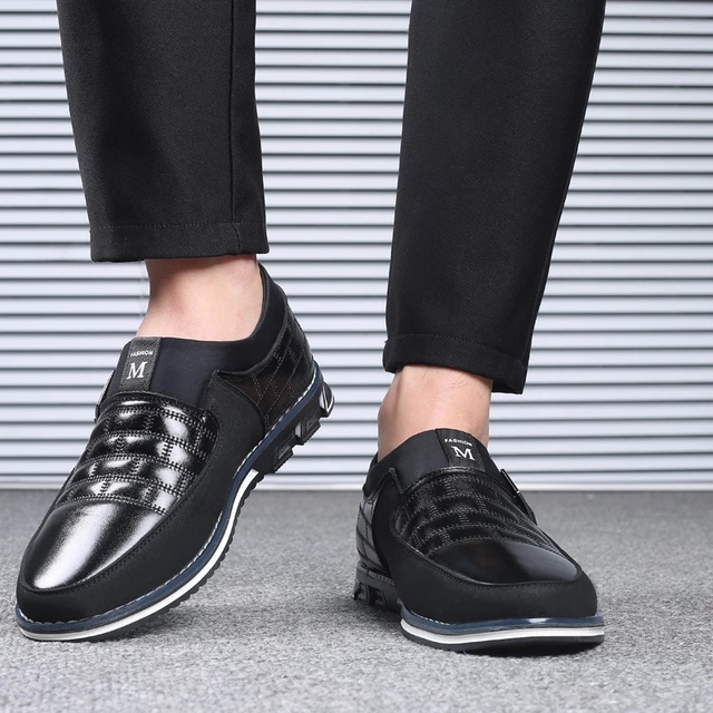 Leather Breathable Lace Up Oxfords Dress Shoes  2