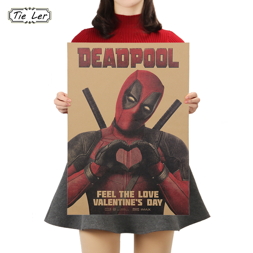 TIE LER Marvel Movies Poster Cafe Bars Kitchen Kids Rooms Decor Posters Adornment Vintage Kraft Paper Poster Wall Stickers