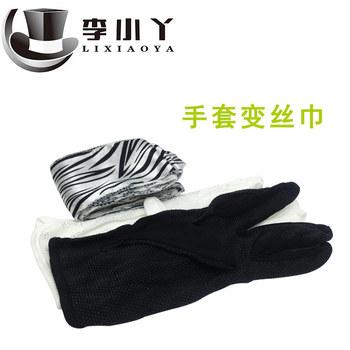 Czarne i białe rękawiczki stają się szale jedwabne rękawiczki stają się szale jedwabne czarno-białe szale jedwabne magiczne rekwizyty tanie i dobre opinie COTTON CN (pochodzenie) Li Xiaoya