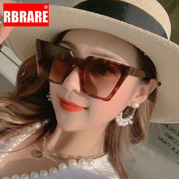 RBRARE Oversized Women Sunglasses Square Sun Glasses Luxury Brand Designer for Retro Lentes De Sol Mujer