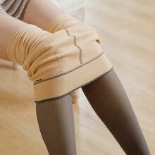 Leggings Lingerie Pantyhose Legs Tights Women Skinny Elastic Fleece Thickened