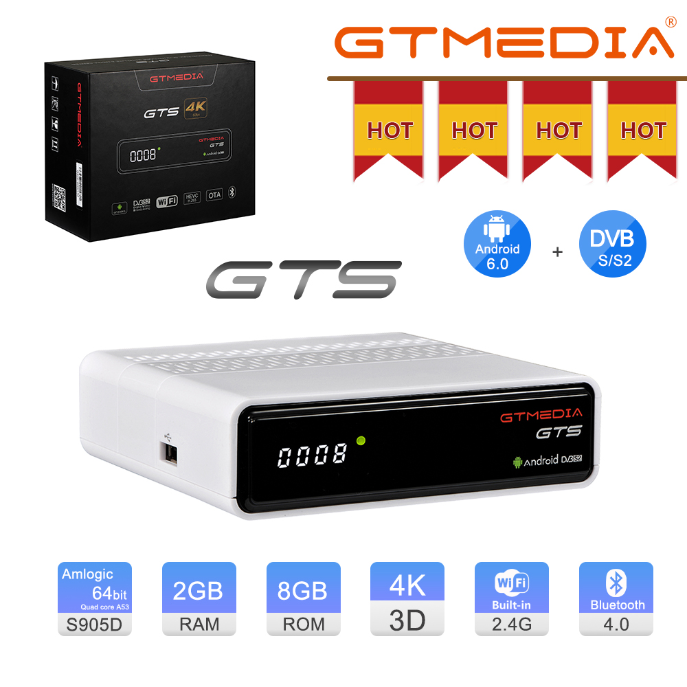ТВ-приставка GTMEDIA GTS на Android 6,0, 2 + 8 ГБ, 4K, Amlogic S905D, Wi-Fi