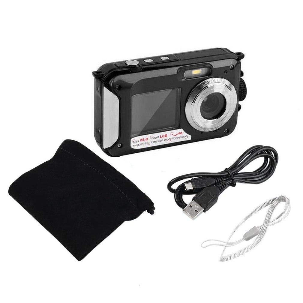 2.7 pouces TFT appareil photo numérique étanche 24MP/48MP MAX 1080P Double écran 16x numérique Zoom caméscope HD268 caméra sous-marine