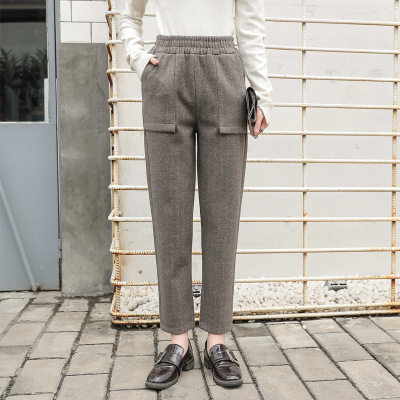 2020 Women Waist Pants Casual Chffion length Capris Trouser Women Clothing Pencil Pants