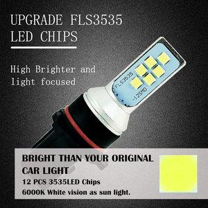 Image 3 - 2PCS P13W 12 SMD 3535 Pure White LED Car Bulb DRL Fog Light Auto Daytime Running Lights Driving Lamp 12V 24V 6000K