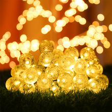 Solar String Led Lamp Twinkle Fairy Lights 6.3M New Year Christmas Decorative Lights Outdoor Luces De Navidad for Wedding Party