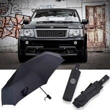 Auto Popular Automatic Business Umbrella Gentleman Sun Rain  Car Logo Umbrella For LAND-ROVER Range Rover Discovery Freelander 2