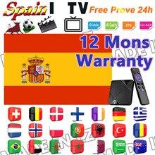 TV box 1 Year warranty android IPTV Portugal m3u Spain Espa�