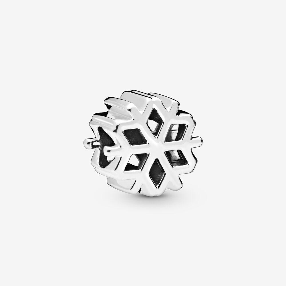 34Polished Snowflake Charm