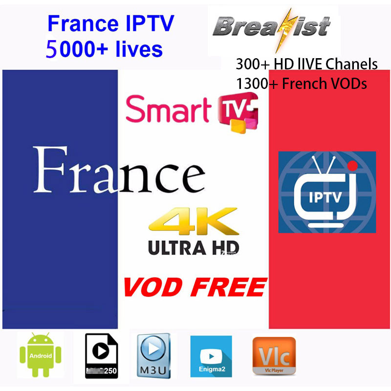 1 jahr Frankreich IPTV für Android box iptv box unterstützung Europa Frankreich abonnement für m3u Android smart tv Enigma2 Frankreich iptv h96