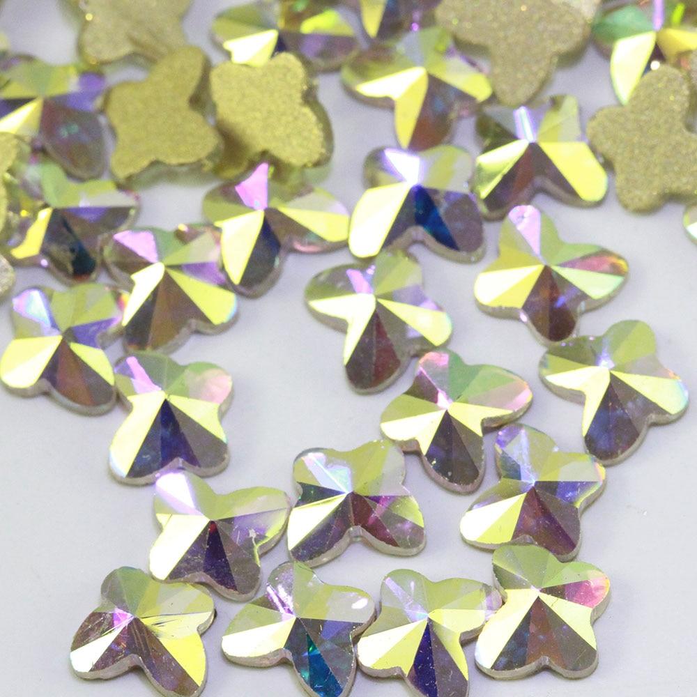 Стразы ab/прозрачные стеклянные стразы в форме бабочки для украшения