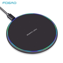 FDGAO 15W Qi Wireless Quick Charger For iPhone 8 Plus X XR XS MAX QC 3.0 Fast Wireless Charging Pad for Samsung S9 S8 Note 9 10