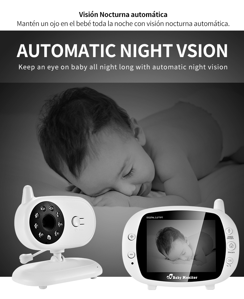 3 inch Baby Monitor With Security Night Vision Camera And a Voice Call For child Security 9