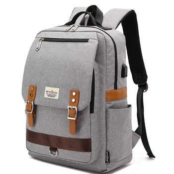 15.6 Inch Laptop Backpack Men Vintage Oxford Backpack Women School Bag Student Travel Bag Female Backpacks for Teenage Girl 2020 - DISCOUNT ITEM  70 OFF Luggage & Bags