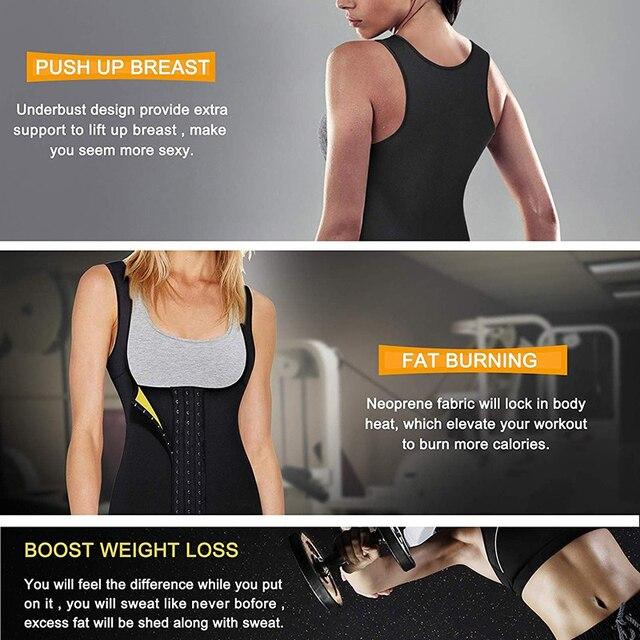 Women Neoprene Waist Trainer Corset Sweat Vest Weight Loss Body Shaper Workout Tank Tops Faja Shapewear Sauna Slimming Belt 3