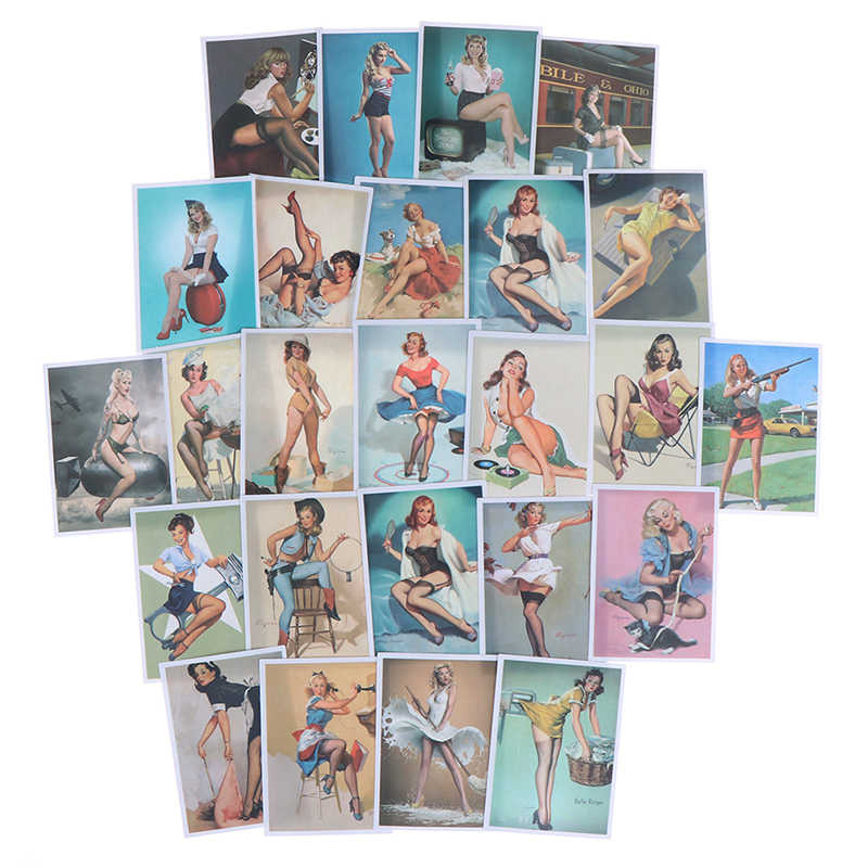 25 unidades/pacote Meninas Sexy Adesivos Sexy Girl Adesivo para Laptop Bagagem Frigorífico Skate