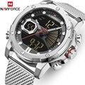 Herren Uhr Top Luxus Marke NAVIFORCE Militär Sport Quart Uhren Männer Wasserdichte Chronograph Männlichen Uhr mit Led-anzeige Reloj