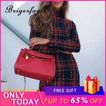 Beigerfayl 2019 Autumn and Winter New Women Dress Long Sleeve Slim Fit Long Sleeve Short Round Neck A Line Plaid Dresses LH0377 stylish round neck long sleeve voile spliced a line women s dress