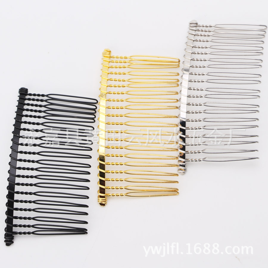 100PCS Bridal Hair Combs Weddings Hair Accessories Iron Metal Hair Clips Claw Hairpins DIY Jewelry Making Wholesale G0127