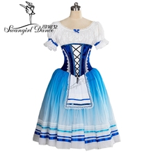 2017New Arrival!high quality blue romantic ballet tutu for girls  giselle dress classical BT9102