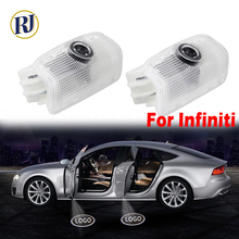 2PCs Car LED Door Projector welcome Logo Light For Infiniti QX80 Q50 Q60 Q70 QX50 QX60 QX70 QX30 M25 M35 M37 LED Door Logo Lamp