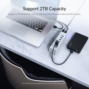 Image 4 - ORICO A3H 시리즈 알루미늄 고속 4/7/10 포트 USB 3.0 허브, 12V 전원 어댑터 지원 BC1.2 MacBook 용 충전 분배기