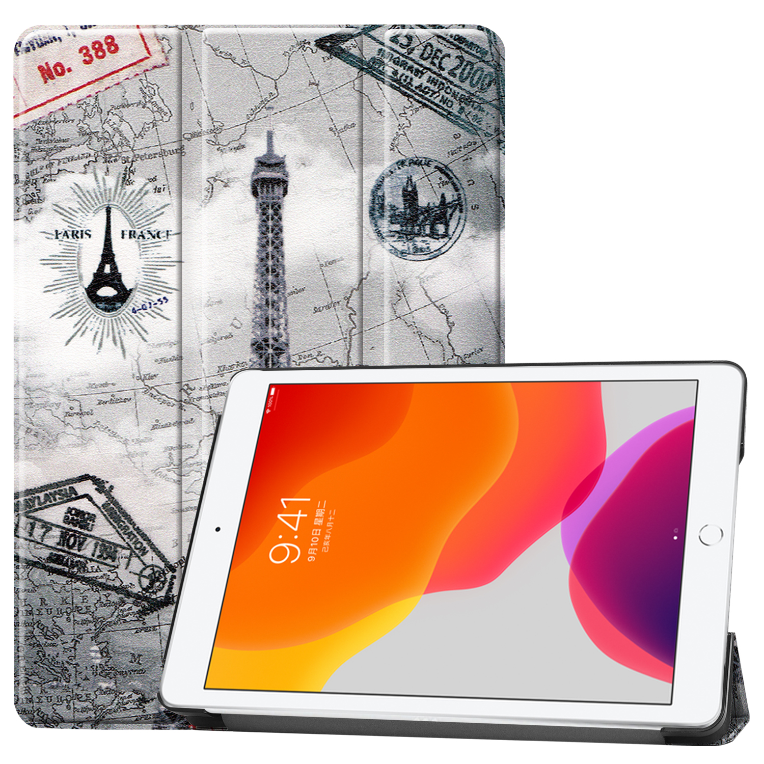 8-8th-Generation Apple iPad/8th/Cas Sleep A2428/a2429 Magnetic for iPad Smart-Cover Case