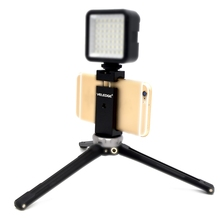 Phone Tripod Mount Adapter Holder With Hot Shoe Clip For iPhone X 8 7 Samsung ulanzi st 02s 65mm to 95mm tripod phone mount with cold shoe 1 4 screw phone mount stand clipper for iphone x 8 7 plus samsung