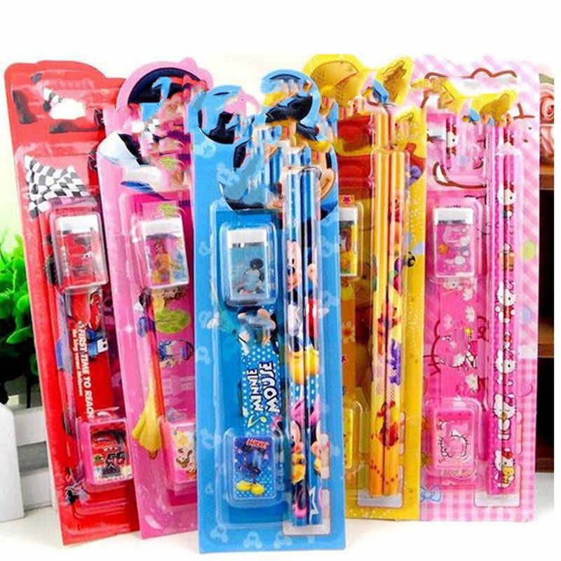 Cute cartoon stationery set 5 sets of kindergarten students 5 in 1 small prize small gifts school supplies combination