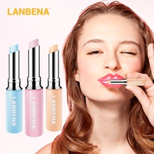 LANBENA Hyaluronic Acid Lip Balm Chameleon Pink Lips Rose Repair Moisturizing Nourishing Natural Extract Makeup Lipstick Plumper