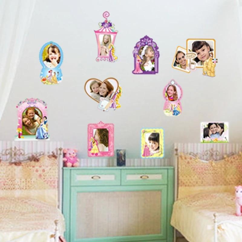 Diy Princess Photo Frames Wall Stickers Removable Girls Room Decoration Vinyl Mural Decals Kid Baby Nursery Bedroom Decor Aliexpress