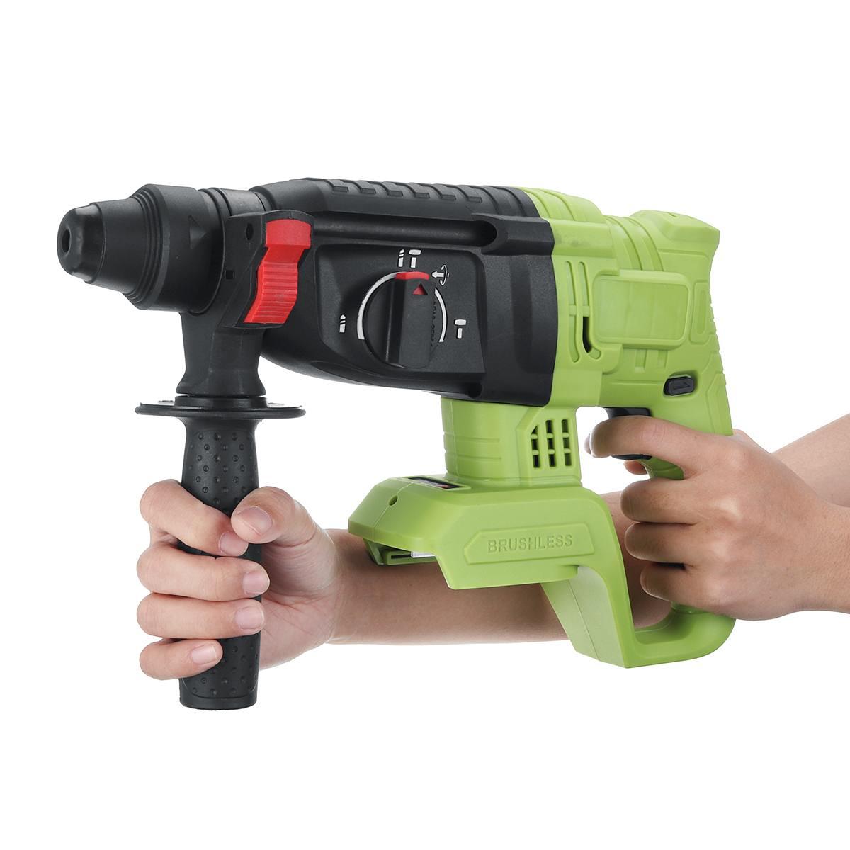 Brushless Electric Hammer Cordless Hammer Drill 1200W Concrete Breaker Punch Jackhammer Power Drill Tool For Makita 18V Battery