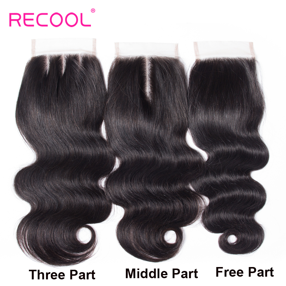 H0894af75b80c4e358f34e61cf5abf4658 Recool Hair Body Wave Bundles With Closure Remy Hair 6x6 and 5x5 Bundles With Closure Peruvian Human Hair 3 Bundles With Closure