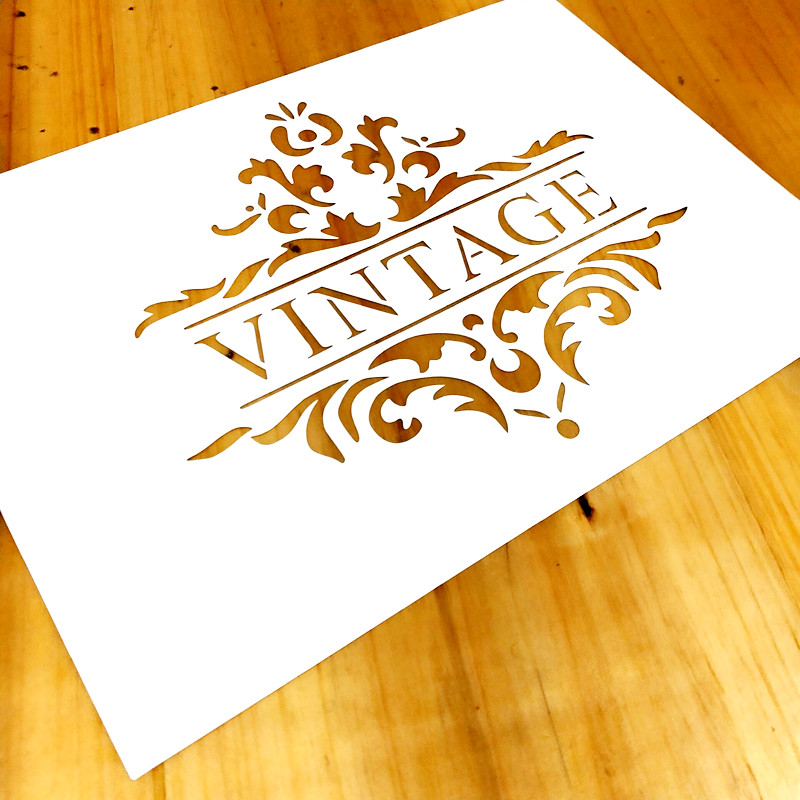 1piece A4,Vintage Word Stencil For Painting,Vintage Frame Template For Wood Painting,Furniture,Crafts,Home Decor#784