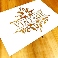1 pieza A4, plantilla de palabra Vintage para pintura, plantilla de Marco Vintage para pintura de madera, muebles, artesanías, decoración del hogar #784